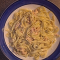 Fettuccine with Smoked Salmon, Vodka and Dill