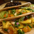 Fish Tacos with Mango Salsa Verde