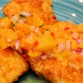 Crispy Fresh Fish with Peach Salsa
