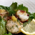Garliky Lemon Scallops
