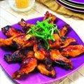 Ginger-Orange Glazed Chicken Wings