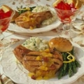 Gingered Chops with Cherry-Orange Sauce