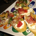 Greek Bruschetta with Feta & Tomato Basil Almonds