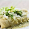 Green Chicken Enchilladas