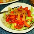 Green Salad Tossed with Tomato Dressing