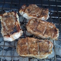 Grilled Jerk Pork Chops with Jerk Compound Butter