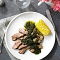 Grilled Leg of Lamb with Pistou