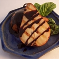 Grilled Pears with Balsamic-Ginger Chocolate Sauce