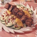 Grilled Pork, Couscous and Dried Cherry Salad with Citrus Vinaigrette