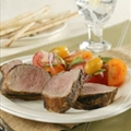 Grilled Pork Tenderloin with Tomato Salad and Fresh Mint