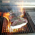 Grilled Porterhouse Steak Marinated In Garlic, with Paprika Parmesan Butter