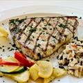 Grilled Swordfish Steaks with Yucatan Orange-herb Paste