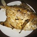 Grilled Whole Pomfret