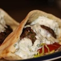 Gyro Meat Sandwich Filling with Tzatziki (Satziki) Sauce