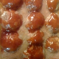 Ham balls in Barbecue Sauce