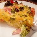 Ham & Broccoli Quiche with Potato Crust