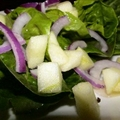 Hearts of Romaine Salad with Apple, Red Onion and Cider Vinaigrette