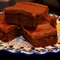 Frosted Hershey Bar Brownies