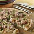 Honey-Cured Ham and Asparagus Pizza