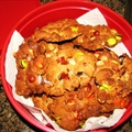 Hoo-haws (peanut butter cookies with, m&ms, reeses pieces and peanuts