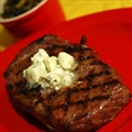 Hot Tubbed Ribeyes with Gorgonzola Butter