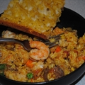 Jodie's chicken and chorizo paella