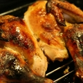 Juicy butterflied roast chicken