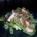 Katies Cajun Chicken On A Cool Salad