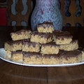 Krispy Bars with Chocolate-Peanut Butter Frosting