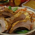Latin Pork Back Ribs with Smoky Pineapple-Mango Sauce