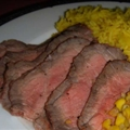 Marinated London Broil with Lemon and Garlic