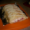 Lemon Strawberry Cake Roll