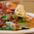 Low-fat Tortellini and Proscuitto