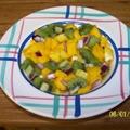 Mango Kiwi Salsa with Reduced Balsamic Lime Sauce