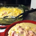 Mashed Potato and Ham Casserole