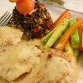 Mediterranean Chicken with Lemon  Cream Sauce