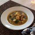 Monkfish Stew with Saffron Broth and Wild Mushrooms