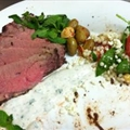 Moroccan Beef with Yogurt Mint Sauce