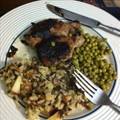 Mustard Glazed Pork with Apple Wild Rice