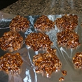 No Bake Oatmeal Fudge Peanut Butter Cookies