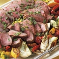 North African Leg of Lamb with Couscous and Grilled Vegetables