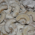 North Croatian vanilla cookies (vanila-kifli)