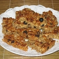 Oat and peanut butter crunchy biscuits