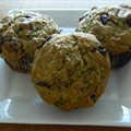Oatmeal Chocolate Chip and Zucchini Muffins
