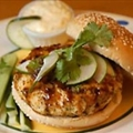 Pacific Rim Chicken Burgers and Ginger Mayonnaise