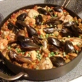 Paella (Spanish Chicken, Seafood Casserole)
