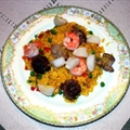 Paella with Saffron Rice ala Negri