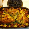Pan Roasted Chicken with Lemon Garlic Beans