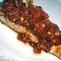 Pan-seared Salmon with Fresh Tomato-basil Relish (ww 8 Pts)