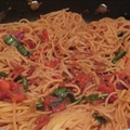 Pancetta Tomato Spaghetti
